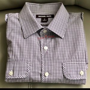 Michael Kors Tailored Fit Roll Tab Button Up Shirt